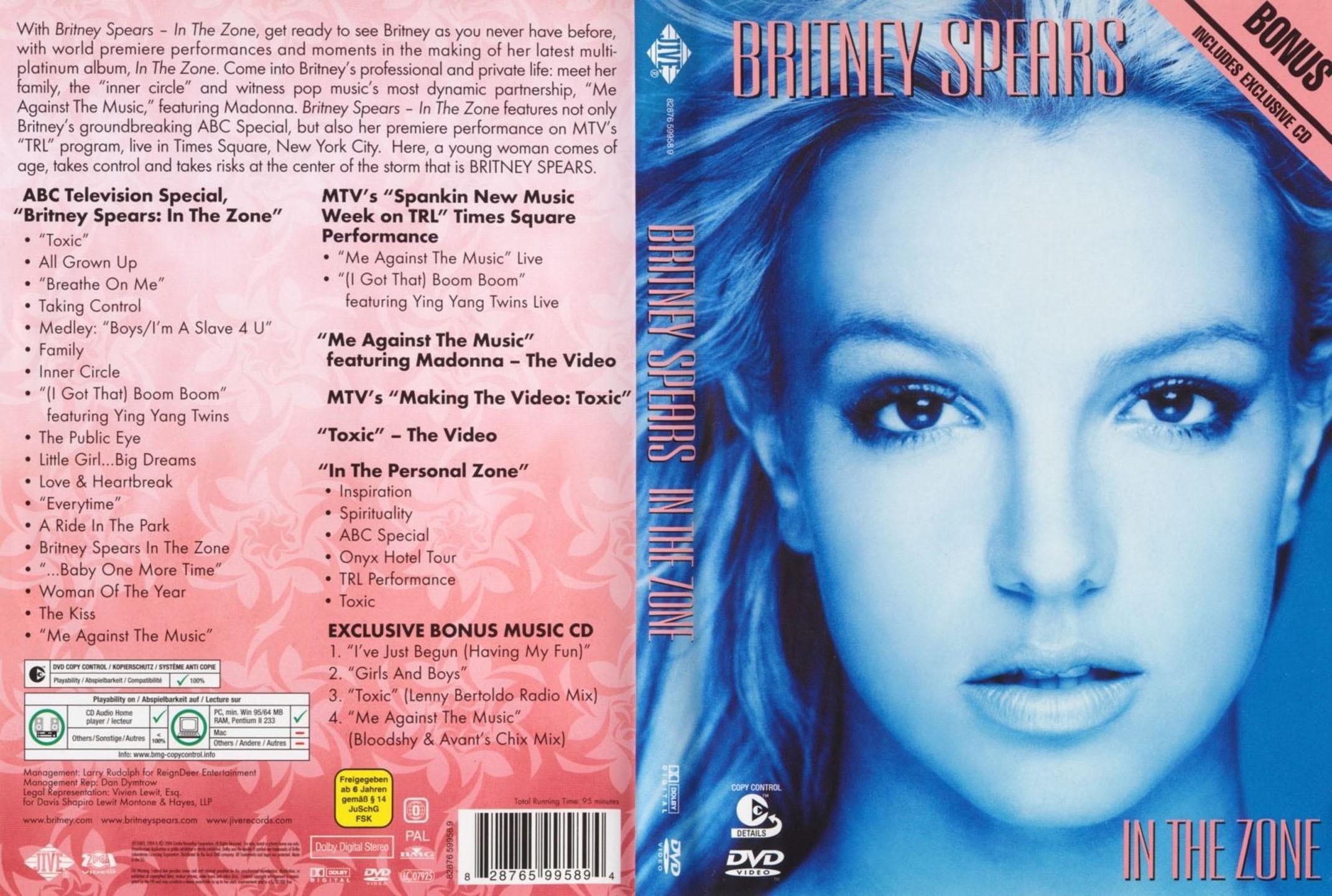 Britney Spears In The Zone DVD RIP 2004
